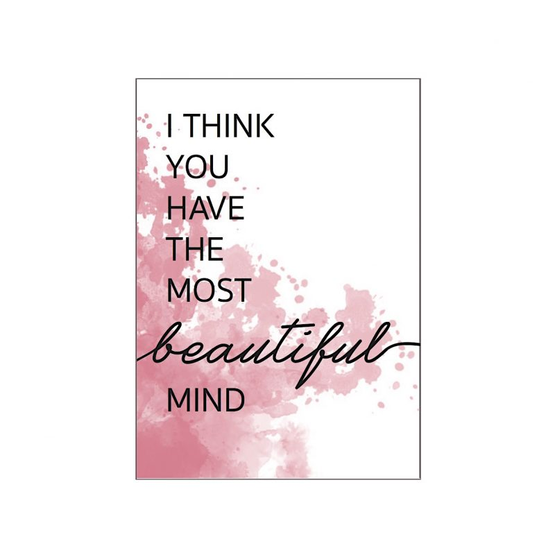 Roze kaart met quote
